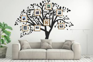 Take personalization of your living room to the next level by displaying your family photos as a Family Tree.
