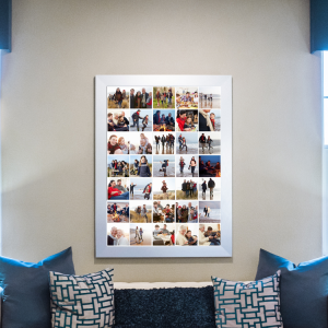 A collage poster print of all the vacation photos.