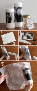 personalized candle diy