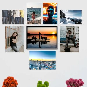 A composition of Classic Photo prints.